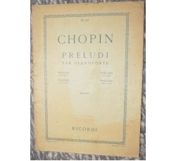 Chopin - Preludi per Pianoforte - Edizione Ricordi 1929 p.60