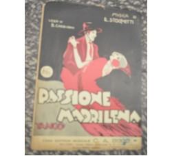 Tango canzone PASSIONE MADRILENA - Stocchetti / Cherubini -  spartito musica 1926