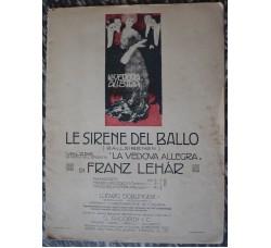 """operetta """"La vedova allegra"""" spartito musica F. Lehar - LE SIRENE DEL BALLO"""