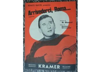 ARRIVEDERCI ROMA Rascel / Garinei, spartito canzone, Giovannini 1954
