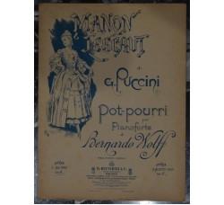 MANON LESCAUT di Puccini x piano - Ricordi 1894 -