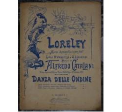 LORELEY Danza delle Ondine x piano - Ricordi 1890 -