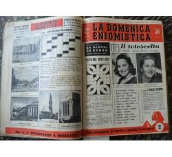 La Domenica Enigmistica 1956 n. 1/18 + 37/53 rilegata in 2 vol. Ottima - Marilyn Monroe - A. Rubino
