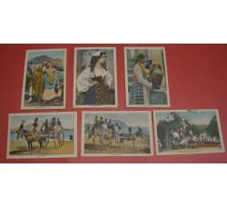 COSTUMI SICILIANI serie di 6 Cartoline anni '30 - ottime