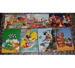 TOPOLINO 7 cartoline ed. Disney / Biondetti - anni 60/70 - Rare - GRATIS spedizione