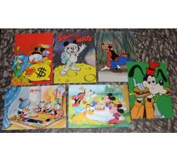 6 cartoline ed. Disney - anni 60/70 - rara 40° anniversario Topolino