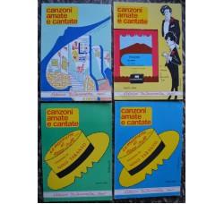 Canzoni Amate e Cantate - Lotto di 4 volumi - per canto-chitarra o fisarmonica