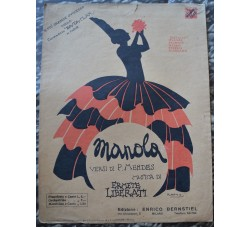 compagnia BA-TA-CLAN Parigi - spartito musica canzone MANOLA - di Mendes / Liberati