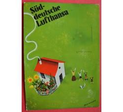 LUFTHANSA - cartolina pubblicitaria usata 1933 - firmata E. Nitsche