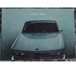 BMW 2000 catalogo pubblicitario, dati tecnici, prestazioni, ...