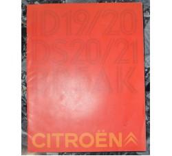 CITROEN Gamma D catalogo pubblicitario, dati tecnici delle auto