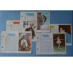 SPORT INVERNALI, ALPINISMO, SCHERMA, PATTINAGGIO, figurine schede -1959