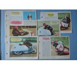 MOTOCICLISMO figurine schede ENCICLOPEDIA dello SPORT - ed. SPORT NAPOLI 1959