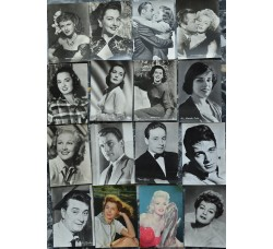 16 cartoline vintage Attrici, Attori, anni 50 - CINEMA