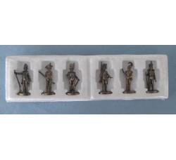 6 Soldatini in metallo (periodo Napoleonico) chiusi nella custodia originale