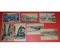 ALESSANDRIA Città Lotto 7 cartoline d'epoca - Ottime