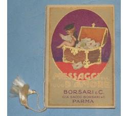 """Calendarietto BORSARI Almanacco1926 """"Messaggi d'Amore"""" firmato Busi"""