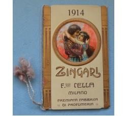 """Calendarietto """"ZINGARI"""" Almanacco Profumeria Cella Mi. 1914"""