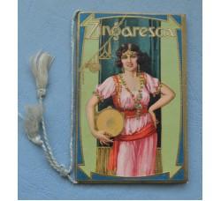 """Calendarietto """"ZINGARESCA"""" Almanacco Profumeria BAROSSO Torino1931"""