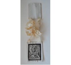 Madonna - santino Scapolare d'epoca con tracolla -