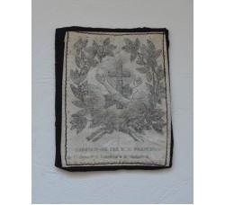 Benedizione S. Francesco - santino Scapolare d'epoca cm.6x7,5 -