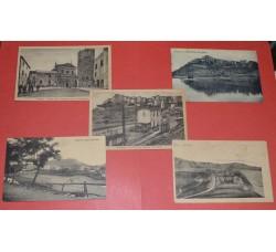 Acuto FROSINONE - 5 cartoline d'epoca, anche stazione - vedi dettagli