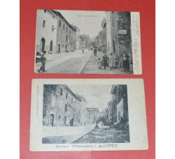 ACUTO FROSINONE - BORGO UMBERTO - 2 cartoline animate, 1904 e 1906