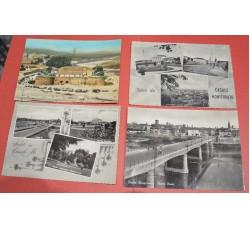 CASALE MONFERRATO Alessandria - 4 cartoline anni 50 - Ottime