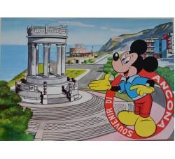 ANCONA souvenir cartolina 1962 con personaggi Disney