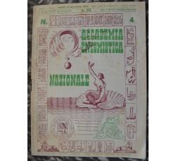 ACCADEMIA ENIGMISTICA NAZIONALE 1947 n.4  rivista rara