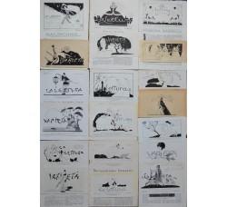 BRUNELLESCHI 19 illustrazioni testate riviste, anni 20 - originali!