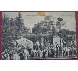 Zafferana (Catania) - Fontana pubblica e Villa Marano - Cartolina 1916 con autografo F. de Roberto