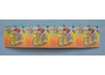 "Figurine Animate Flicker ""CICLISMO"" 4 unite in unica striscia - original Vari-Vue Formato Mio Locatelli"