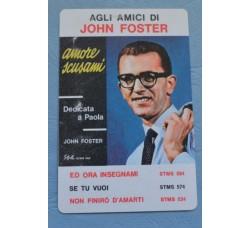 """J. FOSTER """"Amore scusami"""" calendarietto foglio unico 1965"""