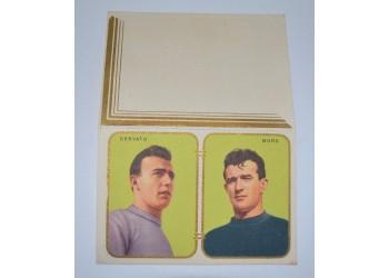 Calcio 1954 Calendario tascabile doppio foglio calciatori Cervato e Moro