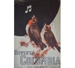 Rivista COLUMBIA n.1-1934 Dischi ultime novità Concerto Pinazzi ... -
