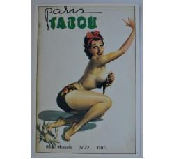 Boccasile - copertina PARIS TABOU, cartolina ed. Gentiane #113, nuova