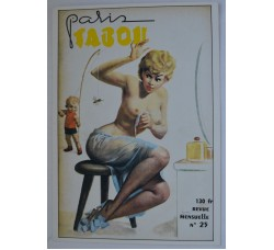 Boccasile - copertina PARIS TABOU, cartolina ed. Gentiane #114, nuova