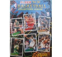 BASKETBALL FLEER ALBUM PANINI 1994-95 con 155 cards diverse