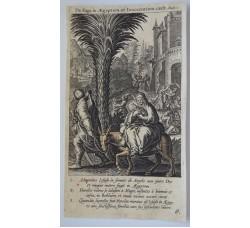 LA FUGA IN EGITTO - Mysteres Vie passion mort Jesus Christ - Bourgoys - Bolswert 1622