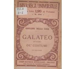 GIOVANNI DELLA CASA - Galateo ovvero De' Costumi -