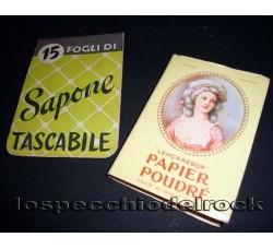 2 confezioni: SAPONE TASCABILE e PAPIER POUDRE' - Vintage