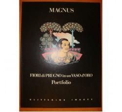 """Magnus """"FIORI di PRUGNO in un VASO d'ORO"""" raro Portfolio numerato e firmato"""