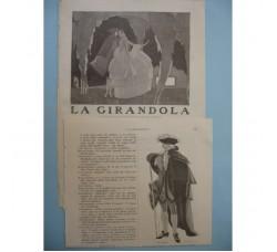BRUNELLESCHI 4 illustrazioni Deco, da racconto su rivista 1922