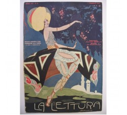 """BRUNELLESCHI """"Odalisca"""" illustrazione Deco, da rivista Febbraio 1925 - originale!"""
