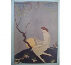 BRUNELLESCHI illustrazione Deco, da rivista Aprile 1924 - originale!