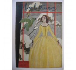 BRUNELLESCHI illustrazione Deco, da rivista Dicembre 1921 - originale!
