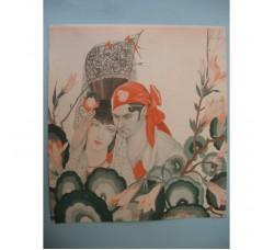 "BRUNELLESCHI ""Parfums d'Espagne"" illustrazione Deco, da rivista 1933 - originale!"