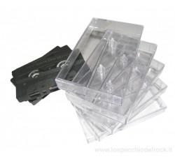 [10 Pz] Custodie NUOVE trasparenti per MUSICASSETTE - Audio Cassette