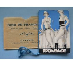 Almanacco profumato PROMENADE 1931 calendarietto pubblicità De Francesco Catania